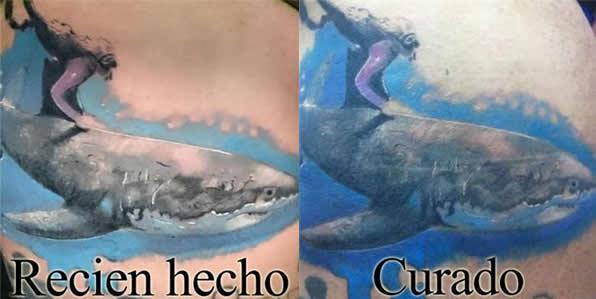 tatuaje hecho y curado