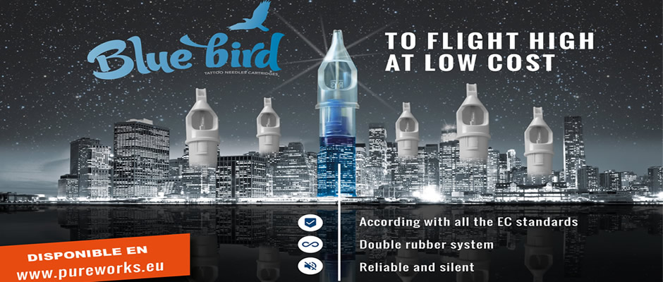 agujas de cartucho blue bird