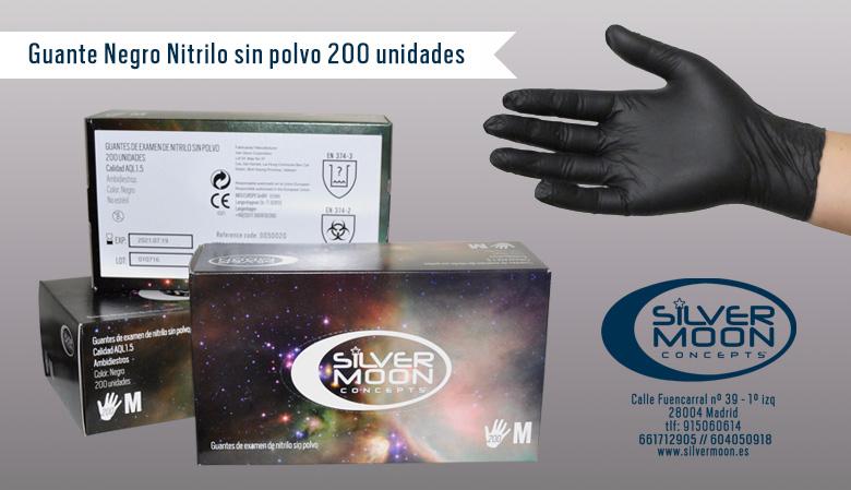 Guantes de Nitrilos sin polvo, no estéril, ambidiestro, SIN LATEX.
